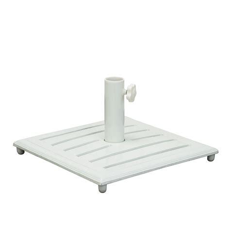grand resort white cast iron umbrella base outdoor