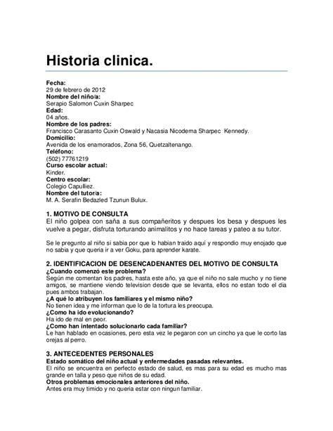 preguntas de historia clinica asi es una historia clinica real