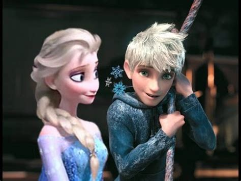 imagenes de jack frost x elsa when queen elsa meets jack frost youtube