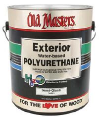 masters exterior water based clear polyurethane