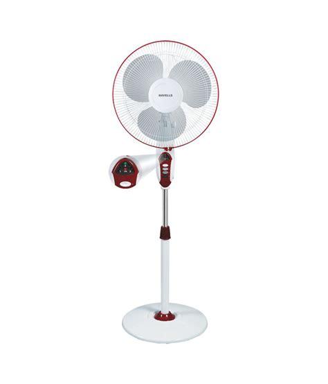 Pedestal Fan Flipkart Havells 400 Mm Sprint Led Pedestal Fan White Red Price In