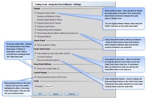 Ib Basic Button tws integrated stock window webinar notes interactive