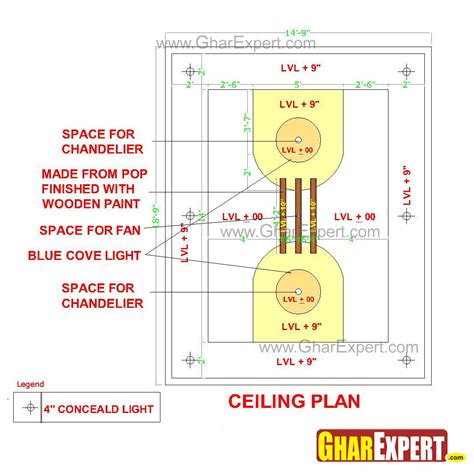 False Ceiling Layout by Pop False Ceiling Design For 15 Ft By 20 Ft Room