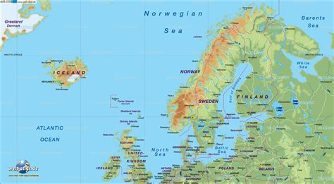 map of northern europe map of northern europe map in the atlas of the world world atlas