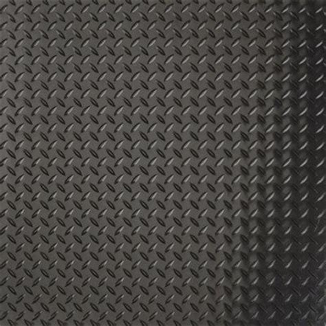 g floor 10 ft x 24 ft diamond tread commercial grade midnight black garage floor cover and