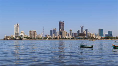 A part of Mumbai's skyline from the coast [5411x3044 ...