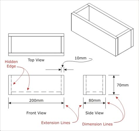 drawing with measurements activity 2a