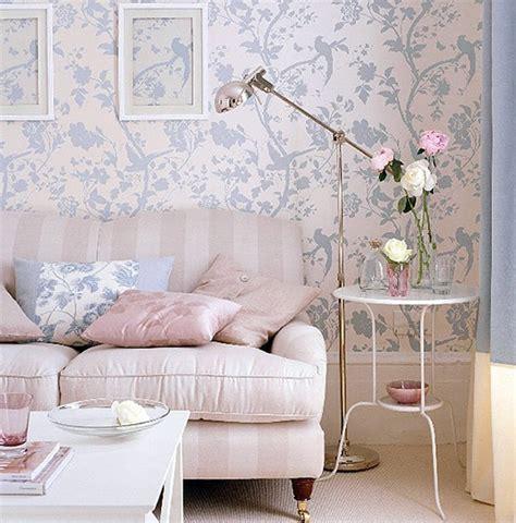Colorful pastel living room interior design