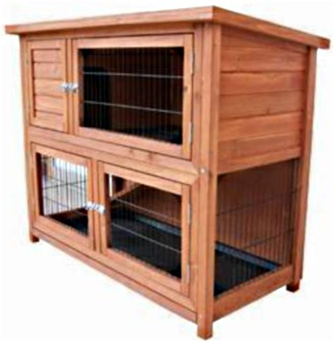 Hutch Codes High Quality Bi Level Rabbit Small Animal Hutch