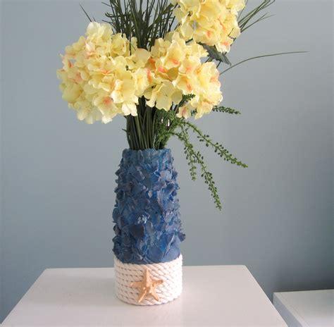 Sea Glass Vase by Decor Sea Glass Starfish Vase Nautical Navy Vase