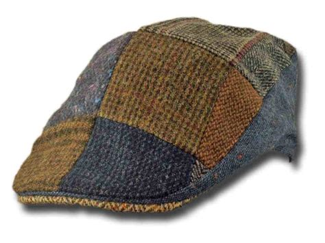 Patchwork Tweed Cap - patchwork tweed touring cap the counties of ireland
