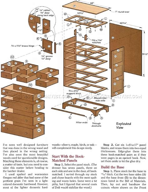 Drawer Plans Free by Drawer Dresser Plans Woodarchivist
