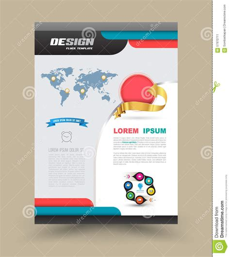 flyer graphic design layout brochure flyer graphic design layout template stock