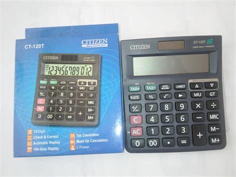 jual kalkulator toko shop calculator citizen 12 digit ct 120t toko atk semua