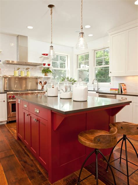 red kitchen islands red kitchen island transitional kitchen benjamin