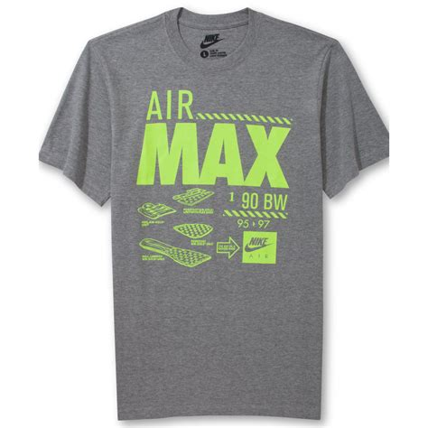 T Shirt Berak Nike lyst nike air max tshirt in gray for