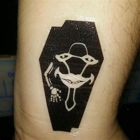made myself a laughing coffin tattoo swordartonline