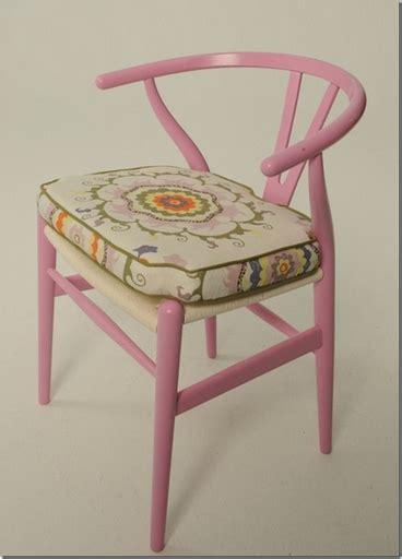 hans wegner wishbone chair cushion breast cancer awareness pink wishbone project