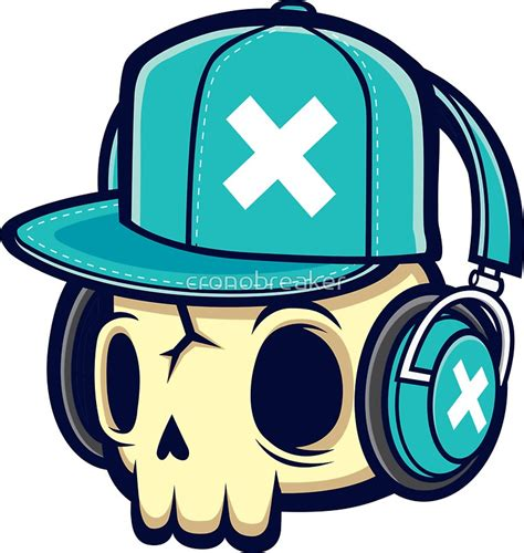 Skull Headphones quot skull and headphones quot stickers by cronobreaker redbubble
