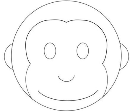monkey birthday cake template monkey cake design pattern template monkey stuff