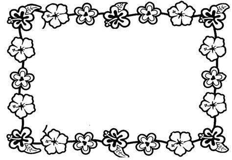 Coloring Page Border by Flower Border Coloring Clipart Best