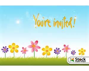 Flower invitation background design vector download free vector art