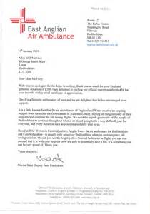 Charity Christmas Letter Neves Support East Anglian Air Ambulance Solicitors In