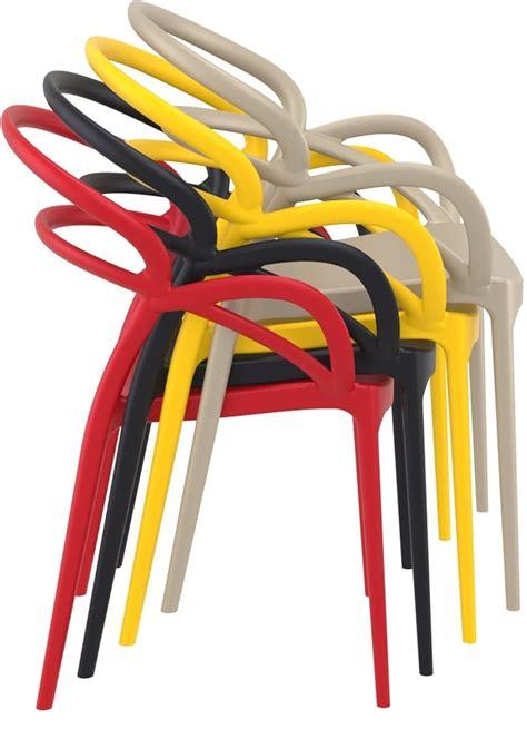 sedie plastica colorate marion sedie design per esterno in plastica tonon