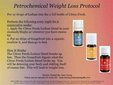 weight loss living petrochemical weight loss living essential oils