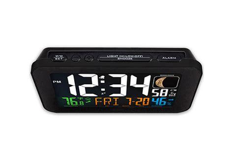 phone charging atomic alarm clock sharper image