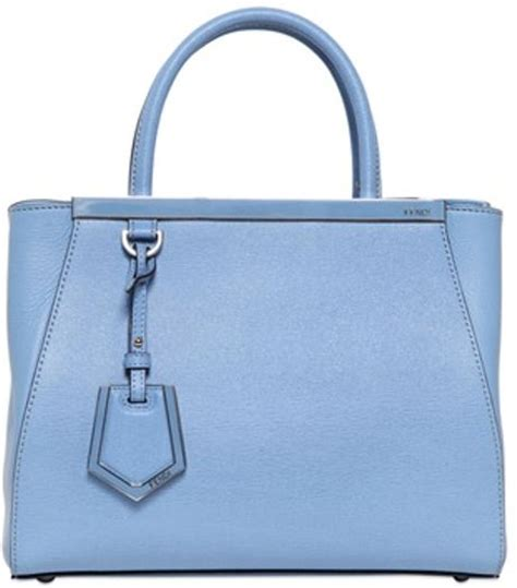 Fendi Mini 2 Jours fendi mini 2 jours structured leather bag in blue light