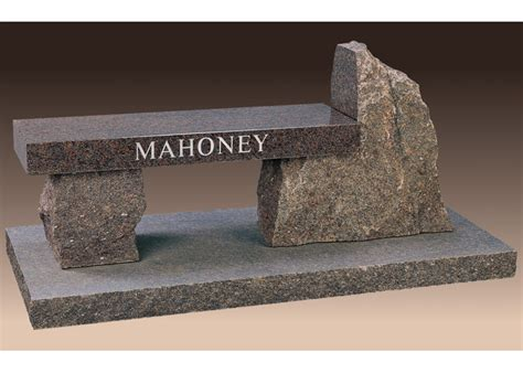 memorial granite benches rustic cemetery bench