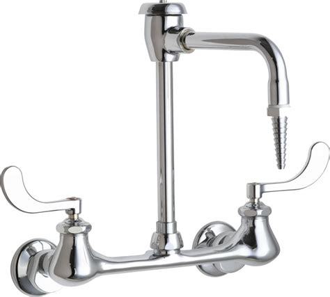 The Faucet Chicago by Chicago Faucets 943 317cp Chrome Wall Mounted Lab Faucet