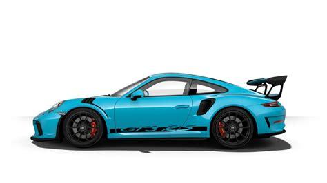 miami blue porsche gt3 rs 2019 porsche 911 gt3 rs color options