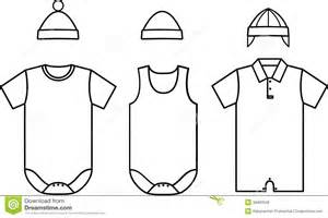 Set Of Child Baby Wear Vector Royalty Free Stock Photos  Image sketch template