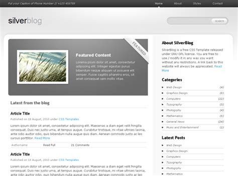 templates blogger css3 40 beautiful free html5 css3 templates