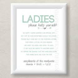 Bathroom basket sign both genders rustic by