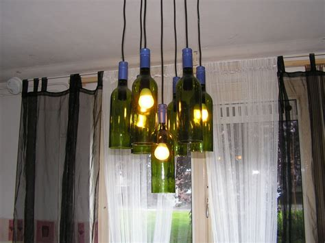 How To Make Wine Bottle Chandelier Home Lighting Ideas Expressed With Wine Bottle Crafts