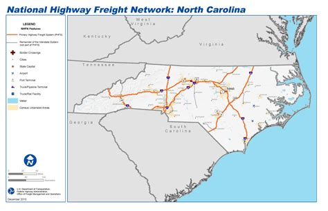 map carolina highways national highway freight network map and tables for
