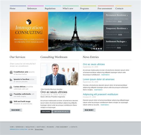Immigration Consulting Website Template 26921 Consulting Website Template