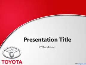 template powerpoint free toyota with logo ppt template
