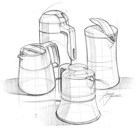 create pattern sketch 3 kettle sketch id design product sketch art sketches