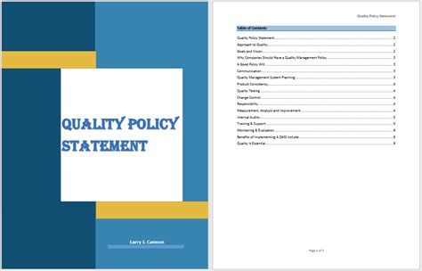 quality policy template 18 free quality policy statement templates ms office