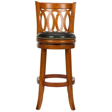 dark oak bar stools home styles 29 in oak bar stool 5645 88 the home depot