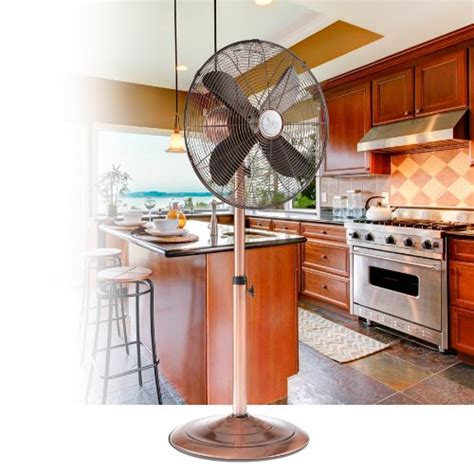 copper kitchen appliances brushed copper appliances deco breeze brushed stainless steel floor standing fan