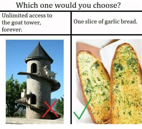Which Would You Chosen by 25 Best Memes About Goat Tower Goat Tower Memes