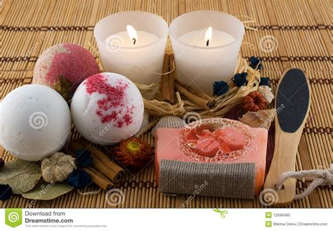 Organic Handmade Cosmetics - handmade cosmetics for bath stock photo image 12696490