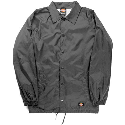 dickies snap front lined windbreaker s coaches