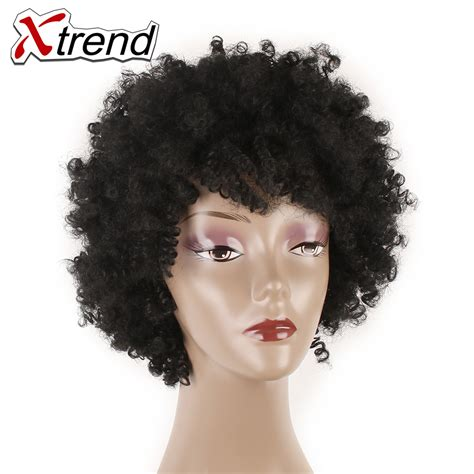 natural hairstyles for 1 inch afro xtrend synthetic afro kinky curly hair wig 6inch short
