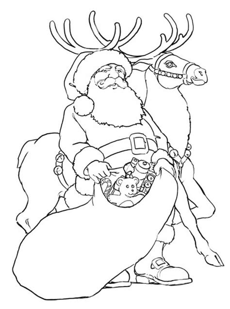 images of santa coloring pages rudolph reindeer coloring page santa coloring home